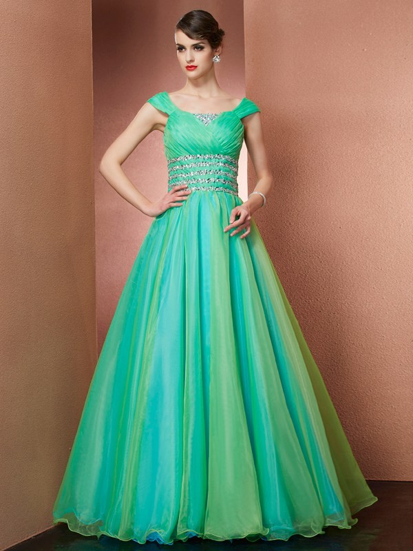 Off the Shoulder Beading Satin Ball Gown Quinceanera Dresses