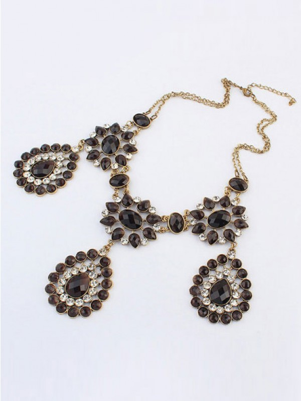 Latest Occident Bohemia Retro Water Drop Hot Sale Necklace