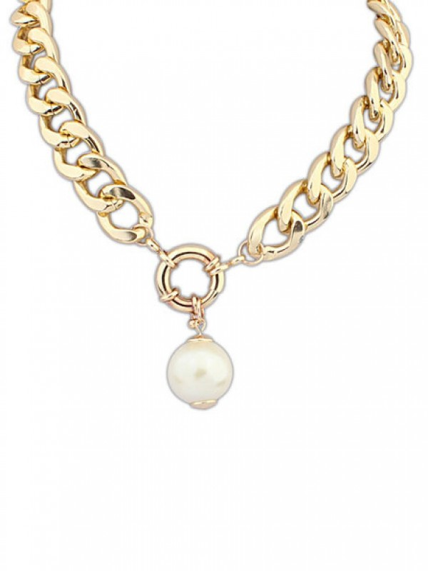 Latest Occident Palace Pearls thick chains Hot Sale Necklace