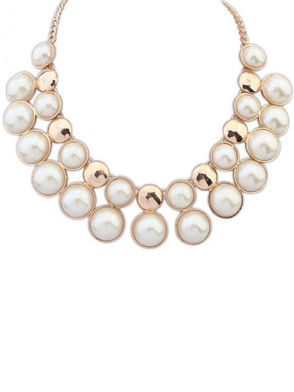 Latest Occident Exquisite all-match Temperament Pearls Hot Sale Necklace