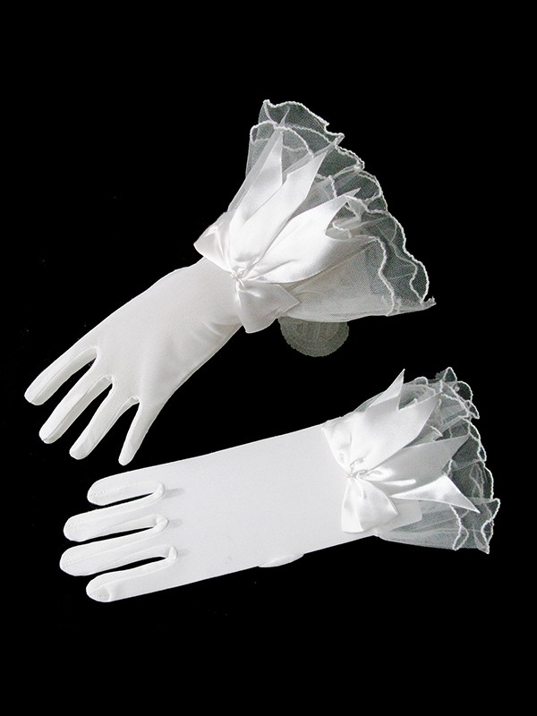 Fashion Romantic Tulle Bowknot Wedding Gloves