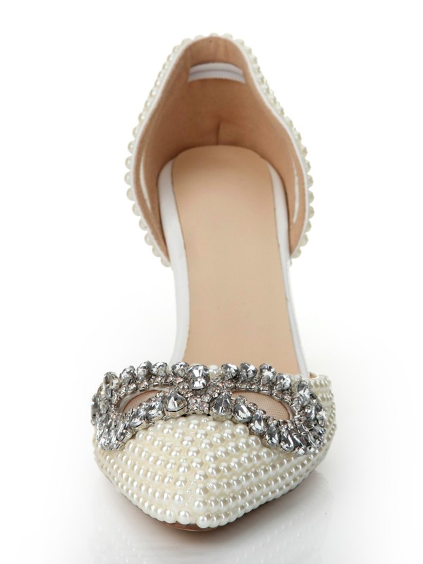 Latest Women's Patent Leather Cone Heel Closed Toe With Rhinestone High Heels