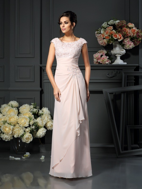 cd8716159b5 A-Line Scoop Lace Chiffon Mother of the Bride Dresses - FabMiss