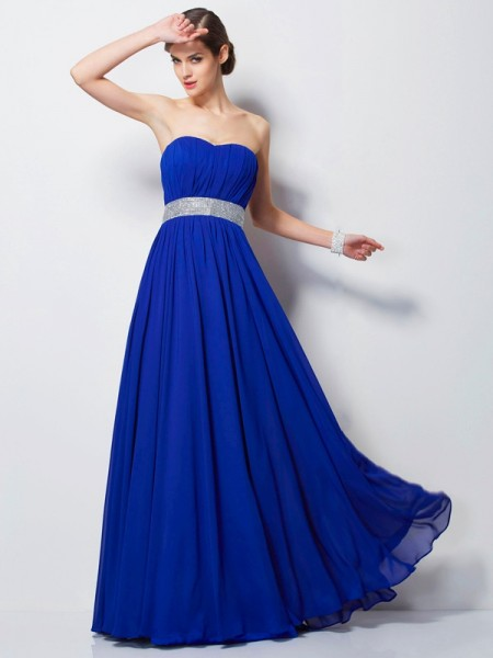 Empire Sweetheart Beading Chiffon Prom Dresses