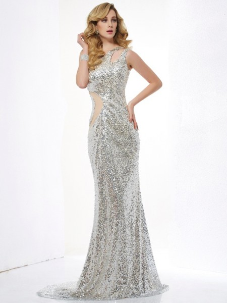 Mermaid One-Shoulder Lace Lace Prom Dresses