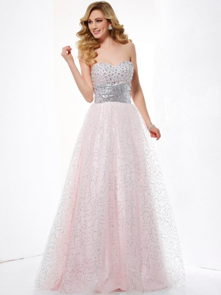 Sweetheart Net Ball Gown Prom Dresses