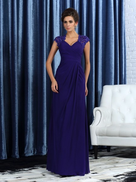 Mermaid V-neck Chiffon Mother of the Bride Dresses