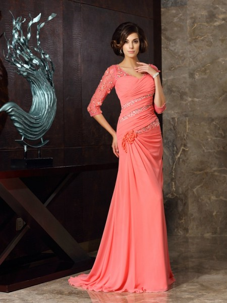 Mermaid Sweetheart Chiffon Mother of the Bride Dresses