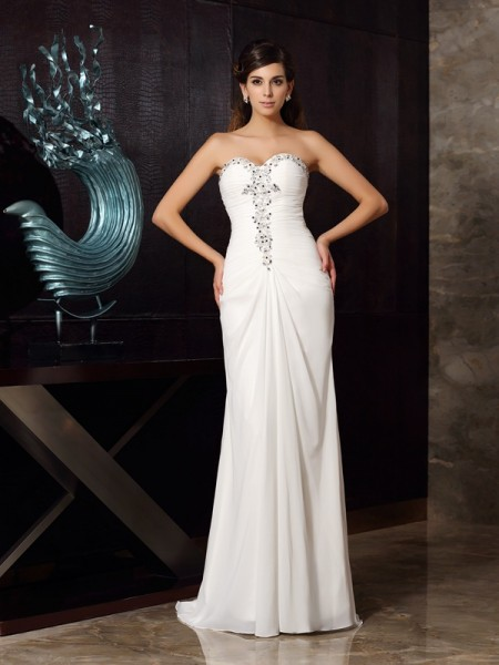 Mermaid Sweetheart Beading Chiffon Dresses