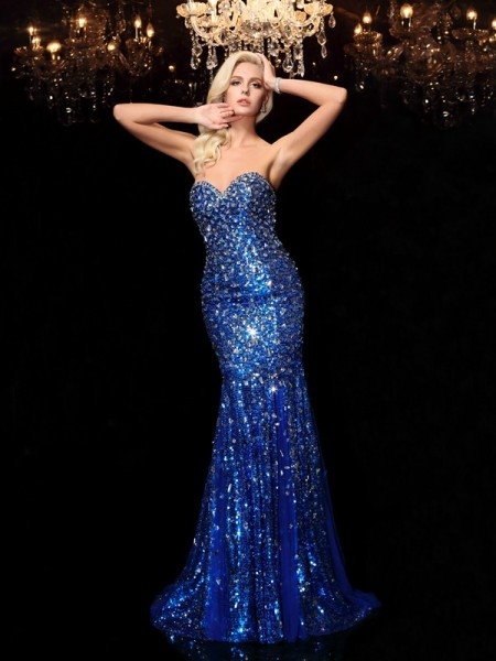 Mermaid Sweetheart Sequin Sequins Prom Dresses