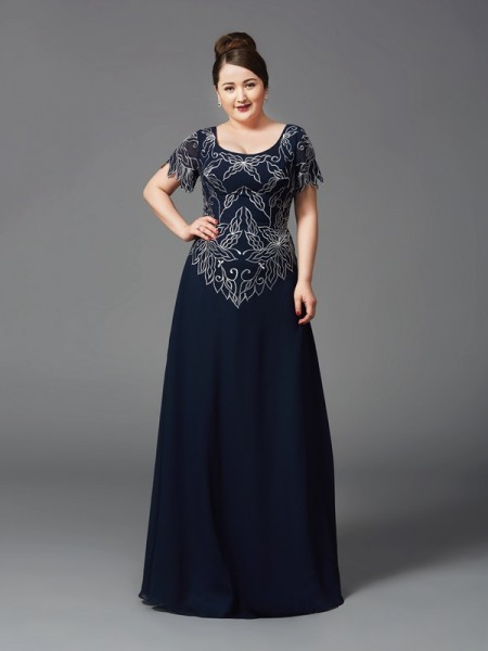 A-Line Square Chiffon Mother of the Bride Dresses