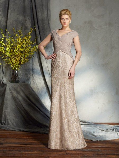 Sheath V-neck Chiffon Mother of the Bride Dresses