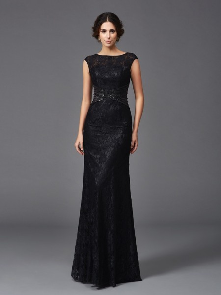Sheath Scoop Beading Lace Mother of the Bride Dresses