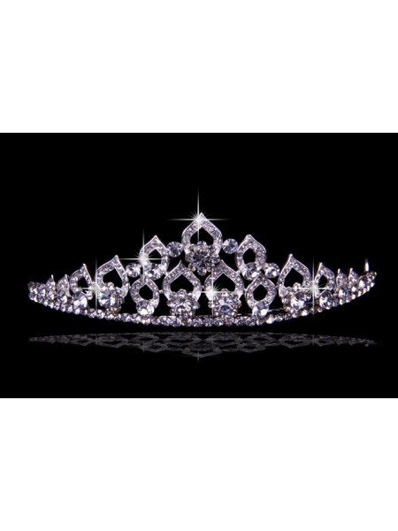 Fashion Glamorous Alloy With Czech Rhinestones Wedding Headpieces