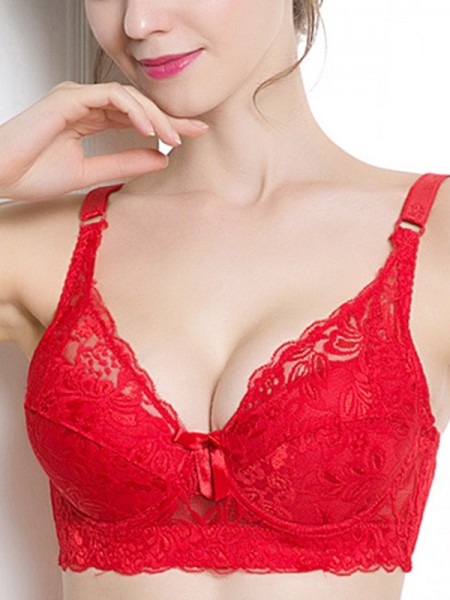 Comfortable Lace Push Up Back Closure Bras