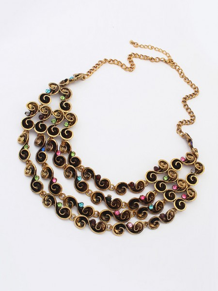 Latest Occident Hyperbolic Personality multi-layered Hot Sale Necklace