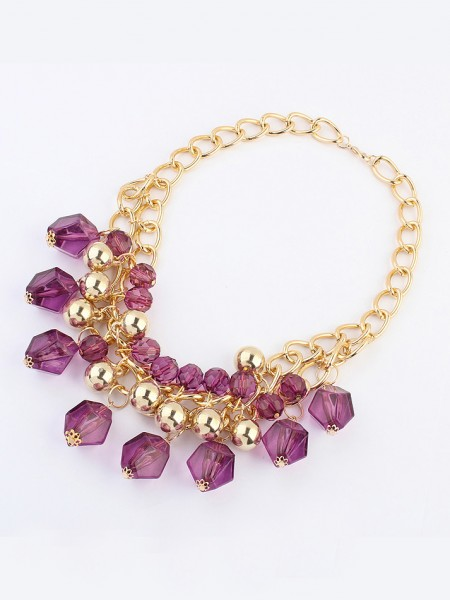 Latest Occident Bohemia Dimensional geometry Hot Sale Necklace