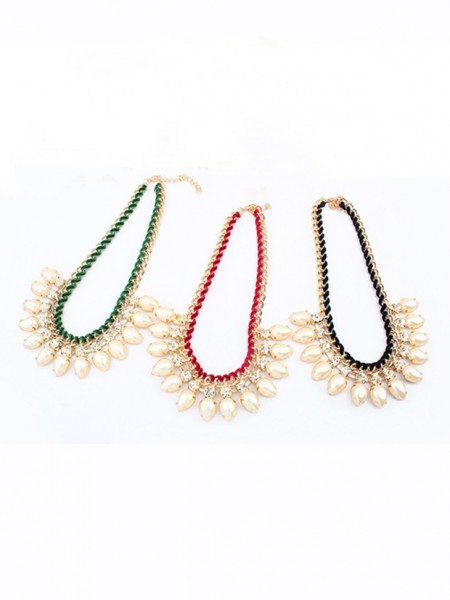 Latest Occident Stylish Exquisite Pearls Water drop Hot Sale Necklace