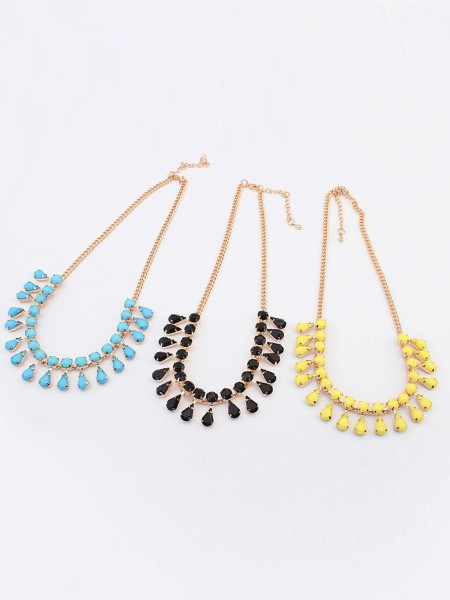 Latest Occident all-match Water drop Temperament Hot Sale Necklace