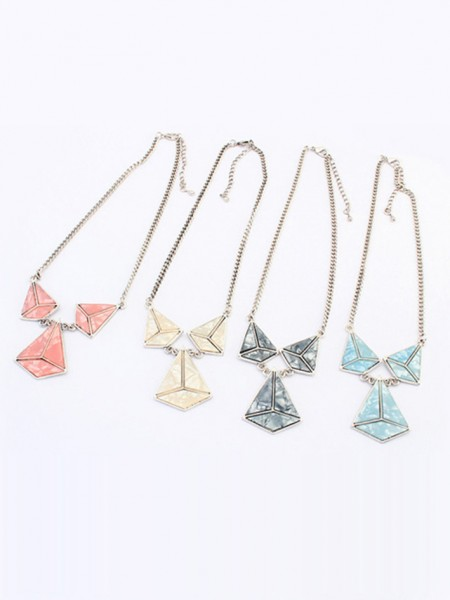 Latest Occident Retro Punk Hyperbolic Geometry Hot Sale Necklace