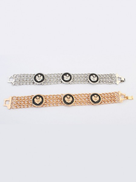 Latest Occident Hyperbolic Punk Retro Lionhead Hot Sale Bracelets