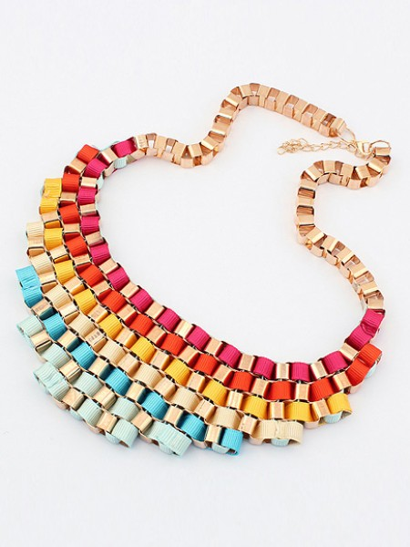Latest Occident Hyperbolic Colorful Stylish Street shooting All-match Hot Sale Necklace
