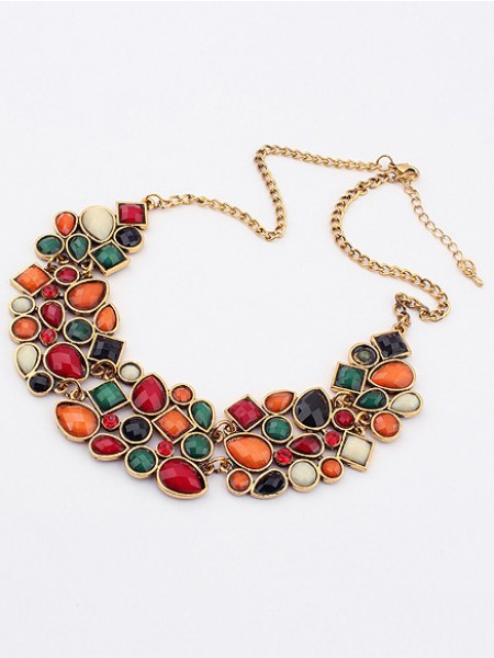 Latest Occident Retro Luxurious Geometry Stitching Stylish All-match Hot Sale Necklace