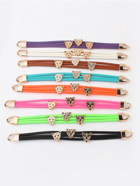 Latest Occident Candy colors Summer All-match Leopard head Hot Sale Bracelets