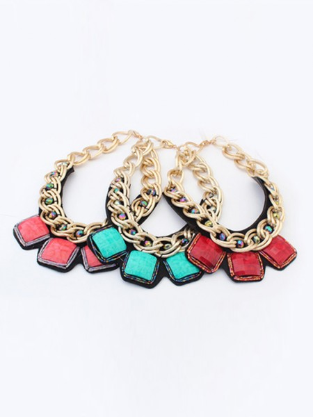 Latest Occident Hyperbolic Metallic thick chains Personality Hot Sale Necklace