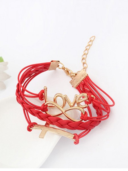 Latest Korean version Romantic Password love Cross Hot Sale Bracelets