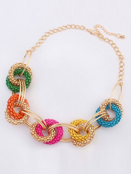 Latest Occident Hyperbolic Retro Exotic Geometry Hot Sale Necklace