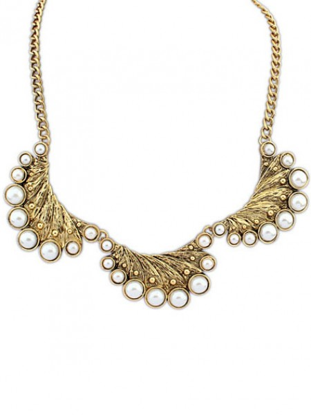Latest Occident Exotic Retro Peacock Pearls Hot Sale Necklace