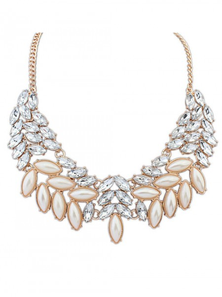 Latest Occident Boutique Pearls Temperament Hot Sale Necklace