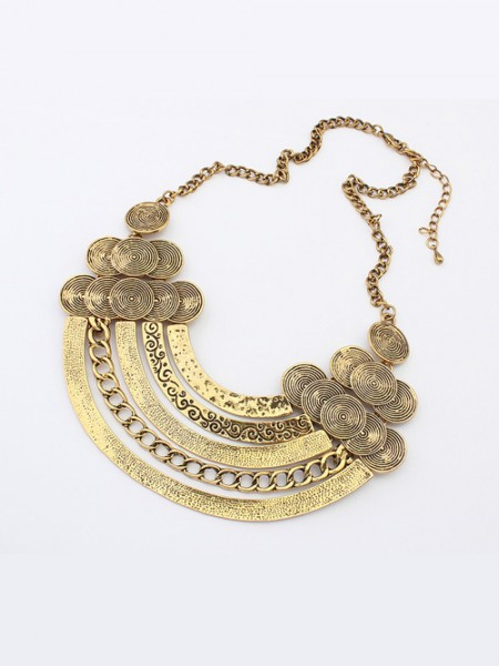 Latest Occident Punk Metallic Hyperbolic Multi-Layered Hot Sale Necklace