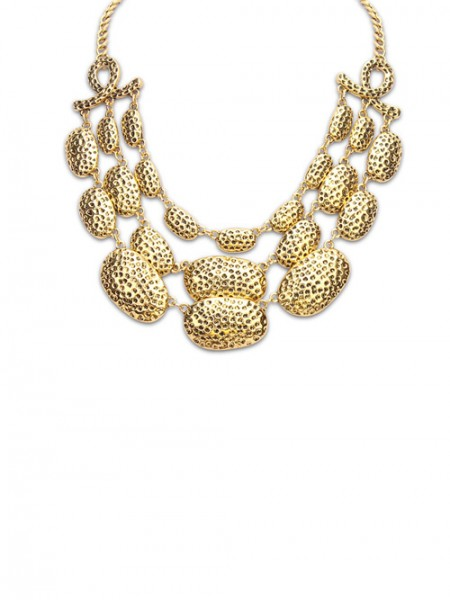 Latest Occident Trendy New Metallic Multi-Layered Hot Sale Necklace