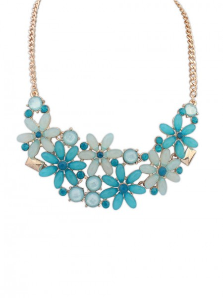 Latest Occident Flowers Blossoming Stylish all-match Hot Sale Necklace