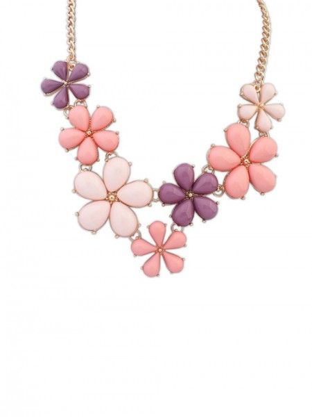 Latest Occident Flowers Sweet Hot Sale Necklace