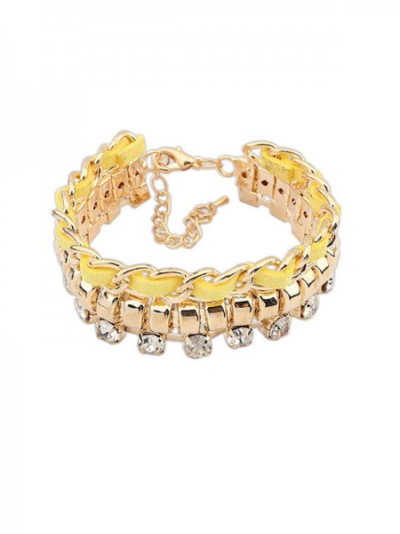 Latest Occident Fashionable New Flash Drilling Woven Hot Sale Bracelets