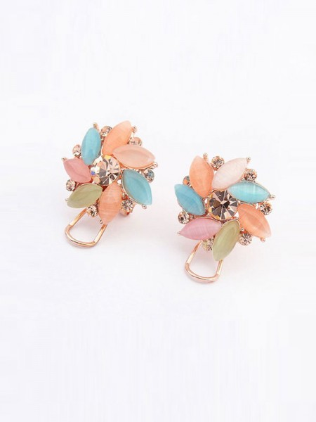 Latest Occident Fashionable Boutique Collision Color Hot Sale Ear Clip