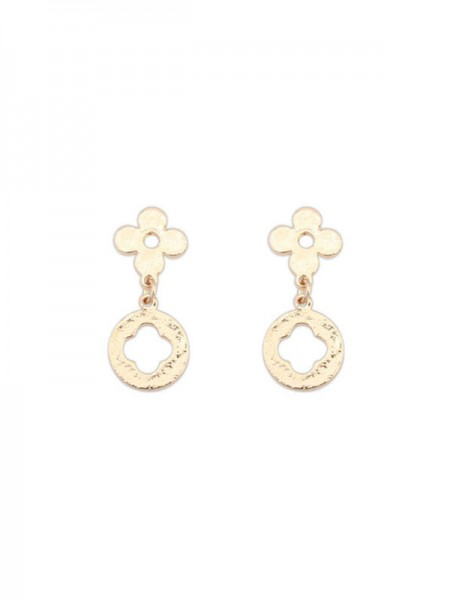 Latest Occident Simple All-match Leaf clover Hot Sale Earrings