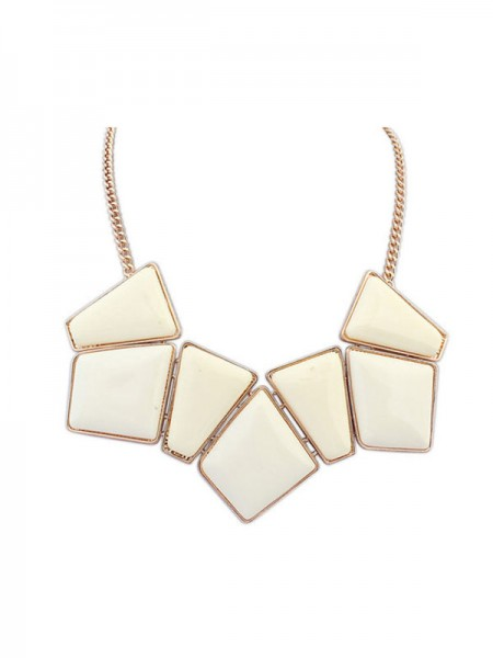 Latest Occident Geometry Blocks All-match Hot Sale Necklace