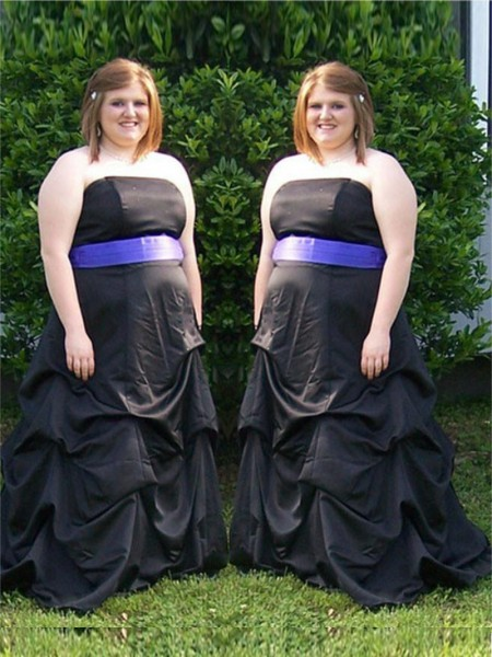 A-Line Strapless Sash/Ribbon/Belt Sweep/Brush Train Satin Plus Size Prom Dresses