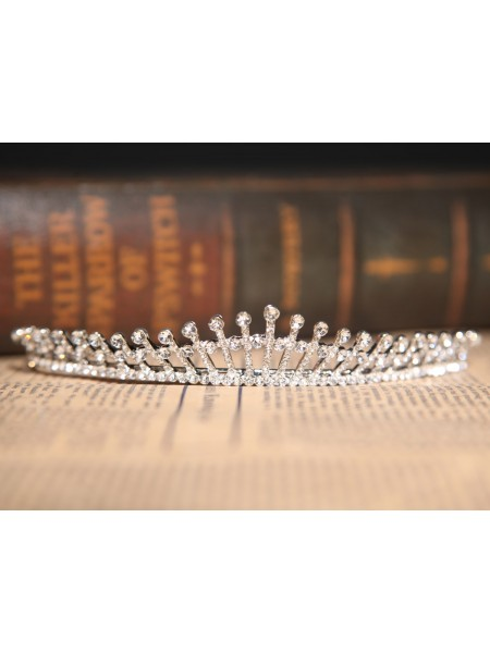 Nice Clear Crystals Wedding Headpieces