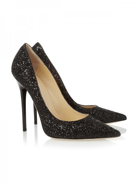 Latest Women's Closed Toe Stiletto Heel With Sequin Party & High Heels