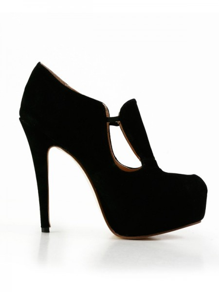 Latest Women's Stiletto Heel Suede Closed Toe Platform High Heels