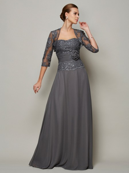A-Line Chiffon Applique Sweetheart Mother of the Bride Dresses