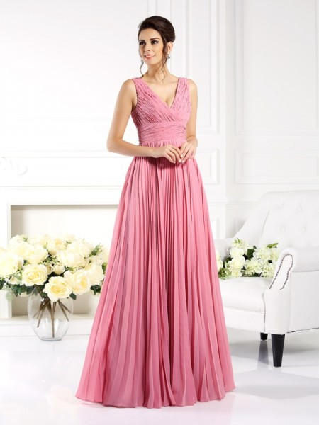 A-Line Sweetheart Pleats Chiffon Mother of the Bride Dresses
