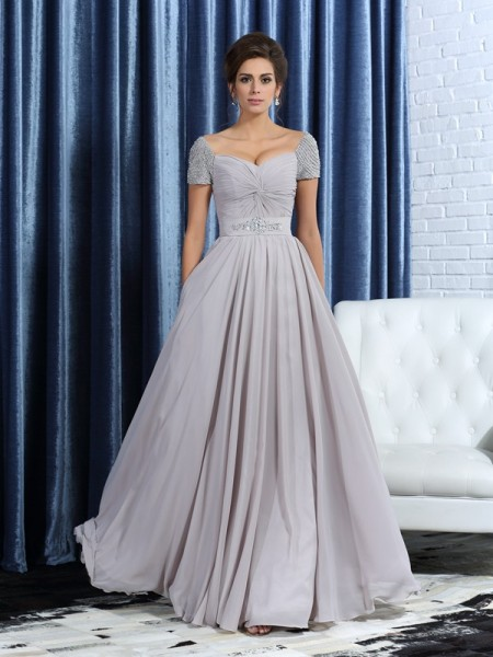 A-Line Sweetheart Beading Chiffon Mother of the Bride Dresses