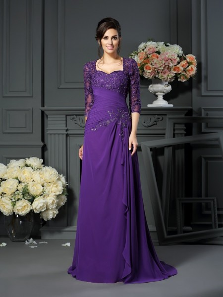 A-Line Sweetheart Applique Chiffon Mother of the Bride Dresses