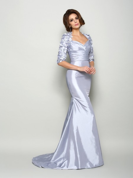 Mermaid Sweetheart Applique Taffeta Mother of the Bride Dresses